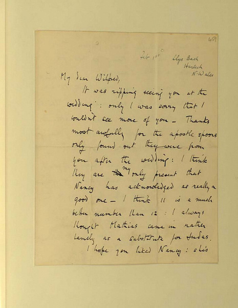 Letter: To Wilfred Owen (1)