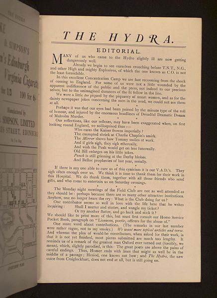 The Hydra: 1st September 1917