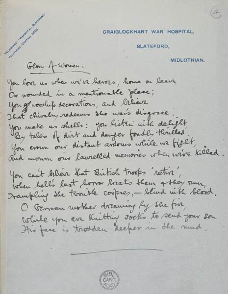 """Analyse in detail the poem """"Counter Attack"""" by Siegfried Sassoon"""
