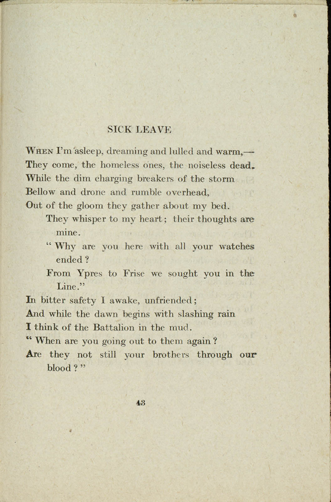 a poem on the first world 9 poets of the first world war his family's wealth meant he didn't have to work but he did write poetry, publishing his first collection of verse privately in.