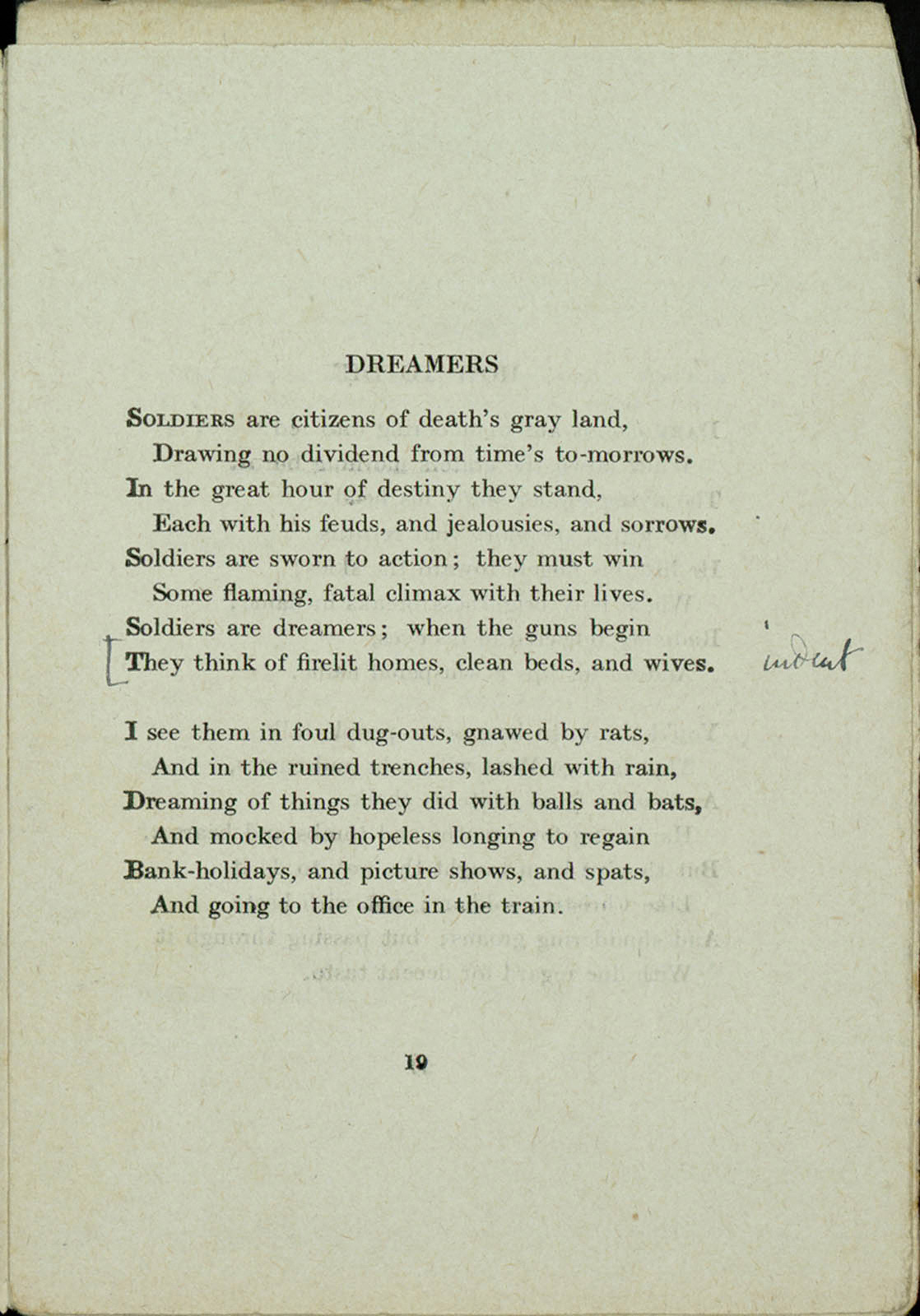 an analysis of the poem dreamers by siegfried sassoon Dreamers analysis siegfried sassoon critical analysis of poem, review school overview dreamers analysis siegfried sassoon characters archetypes.
