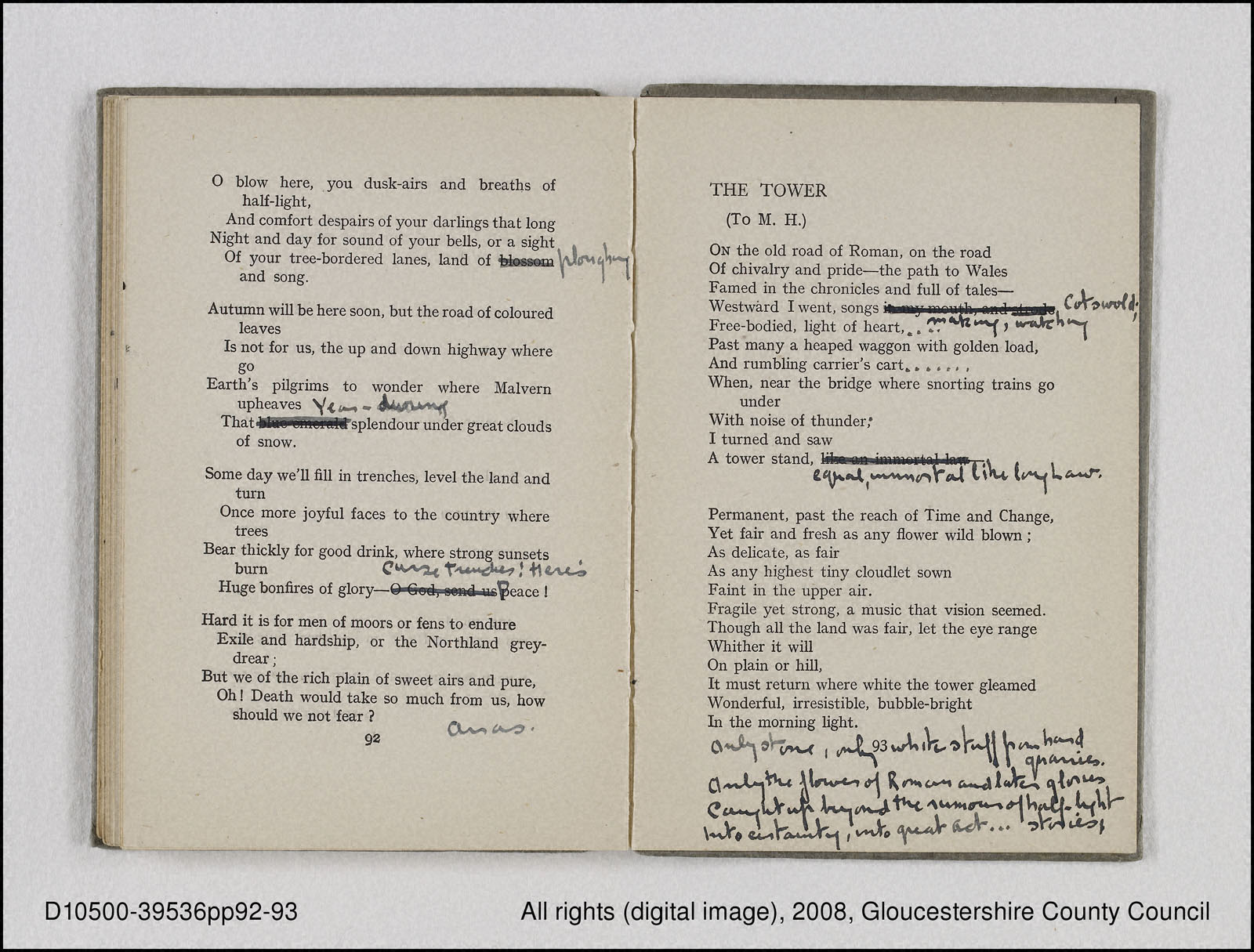 De Profundis The Tower First World War Poetry Digital Archive