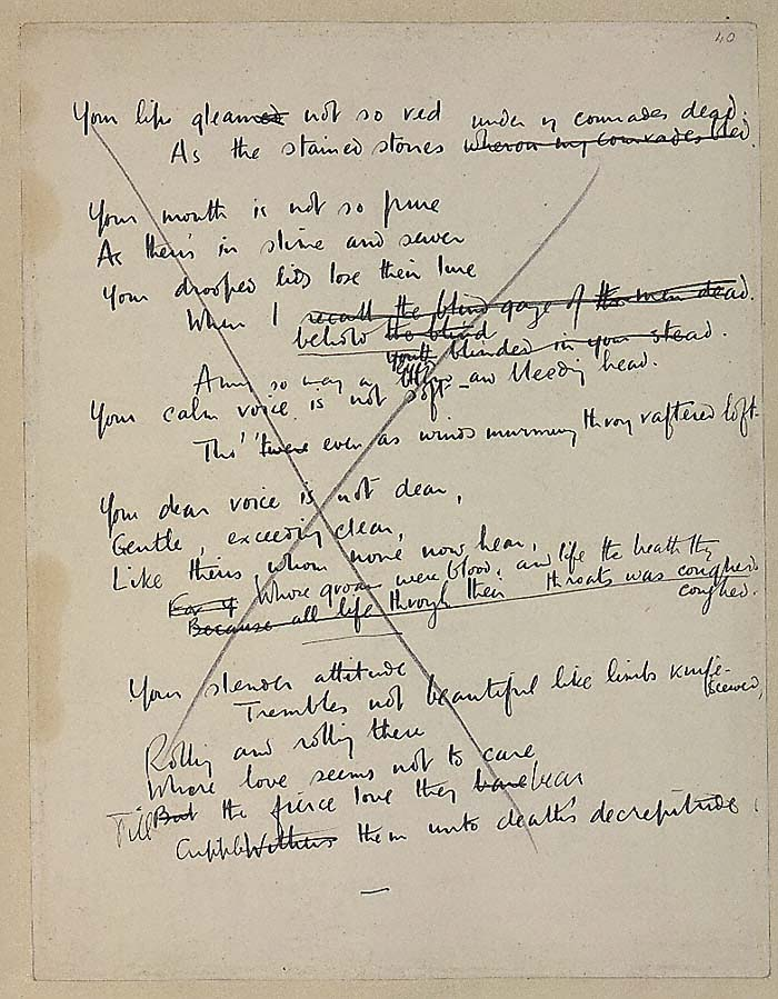 greater love wilfred owen essay Free essay: tennyson's poetry and views alfred  but it seems to me that these problems are greater  the negative view of society in wilfred owen's poetry essay.