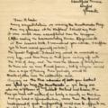 Letter: To Edmund Blunden.