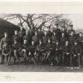 Photograph of Edward Thomas and company of Hut 35 taken at Hare Hall Camp, Essex