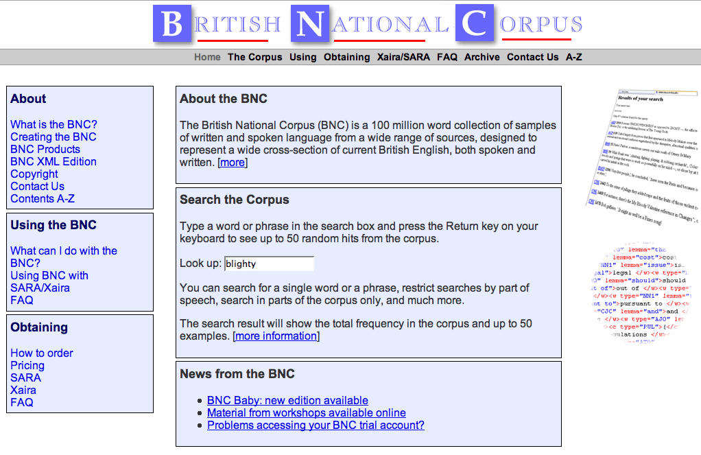british national corpus Using google as a super corpus to drive written language learning: a comparison  with the british national corpus.